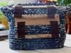 Handtasche wooden-knitwear blau
