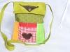 Kindertasche grün Lederherzen