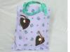 Kindertasche lila Lederherzen