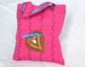 Kindertasche pink Lederherz