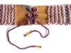 Wollgürtel Leder violett